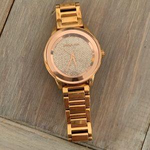 Women's Michael Kors Rose Gold and Diamond Watch